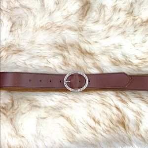 AMERICAN EAGLE: Brown Leather Belt